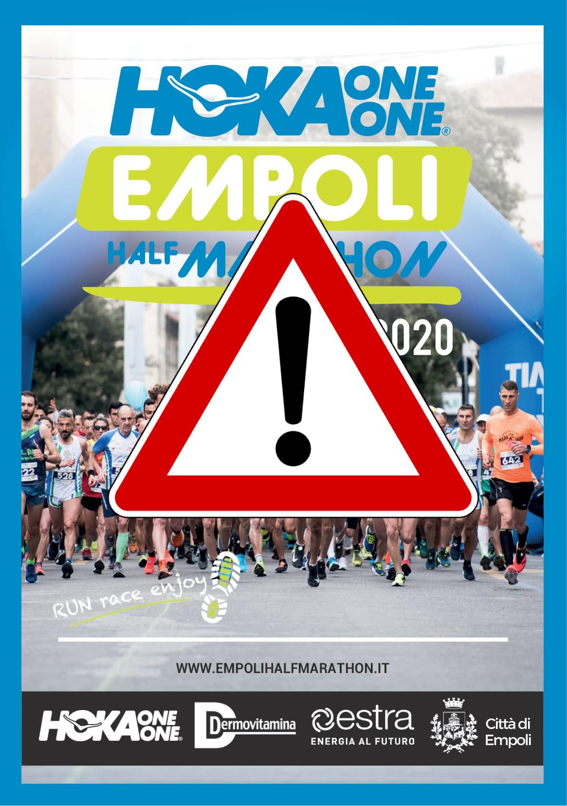 Empoli Half Marathon sospesa per effetto del DPCM del 4 marzo 2020
