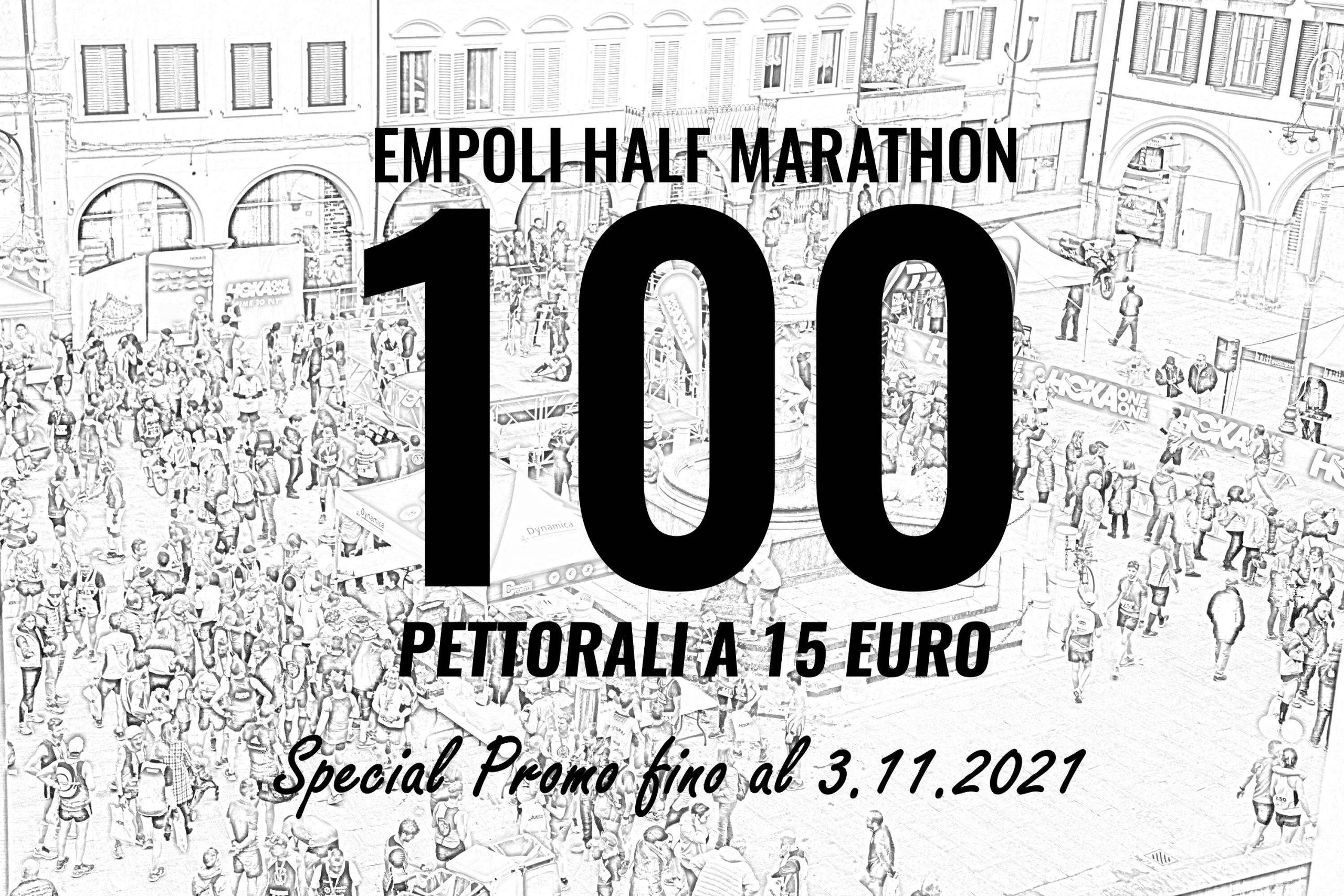 Special Promo per 100 pettorali a 15 euro, fino al 3 novembre!
